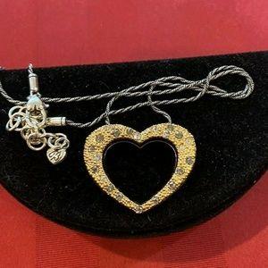 Brighton Reversible Heart Gold/Pewter Pendant